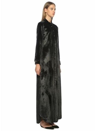 Equipment Gömlek Yaka Uzun Elbise Siyah